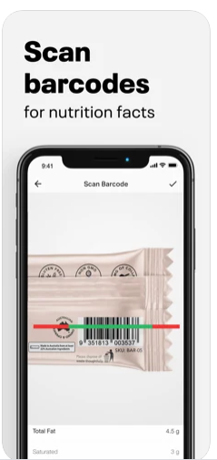 scanning barcode with myfitnesspal app